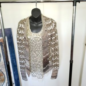 BKE open cardigan sweater